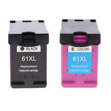 2Packs 61XL Compatible Ink Cartridge Replace for HP 3050-J610a/b/c/d