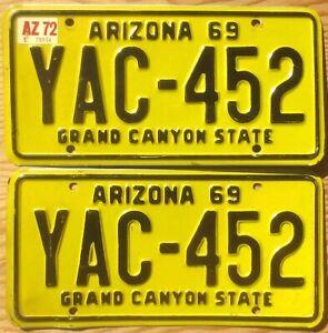 1972 Arizona License Plate Number Tag PAIR Plates