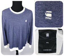 G-STAR RAW Men's Core Sweater - XXL - Imperial Blue/Milk Long Sleeve Shirt