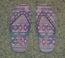 Girl's Limited Too Pink Purple Geometric Flip Flops 12/13?  SEE MEASUREMENTS