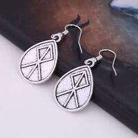 Vintage Talisman Nordic Viking Runes Pendant Gift Drop Earring for Women Girls