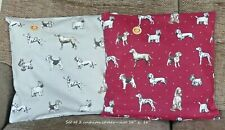 POINTER WESTIE DACHSHUND DALMATIAN TERRIER DOG COTTON FABRIC SET CUSHION COVERS