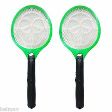 Rechargeable Mosquito/Insect Swatter Killer (Orange), Set of 2
