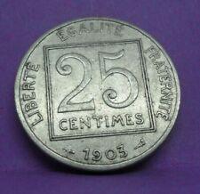 25 centimes patey 1903 - TTB - pièce de monnaie française - N13293
