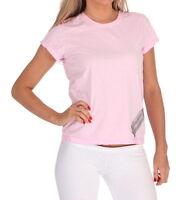 E.vil Womens Victoria Secret Cotton T shirt Pink Embellished Lipstick