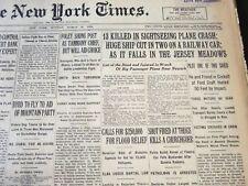 1929 MARCH 18 NEW YORK TIMES - 13 KILLED SIGHTSEEING PLANE CRASH - NT 6631