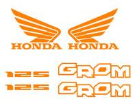 Honda GROM Decal Kit ORANGE Sticker Motorcycle 125 graphics decals stickers