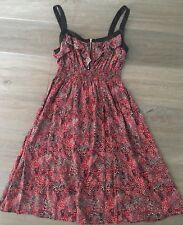 Ladies size 10 Pink HOT OPTIONS Spotty Summer Dress - *Excellent Con