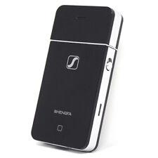 Mini rasoio elettrico per barba ricaricabile stile smartphone iPhone con 2 lame