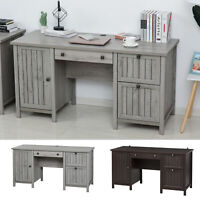 HOMCOM Vintage Executive Desk, Home Office Station, Student Table with Cabinet