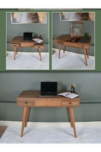 MAGIC WALNUT MAKEUP/OFFICE TABLE 2 IN 1 WITH MIRROR