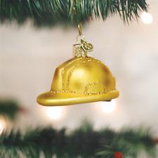 OLD WORLD CHRISTMAS CONSTRUCTION HELMET GLASS CHRISTMAS ORNAMENT 32226