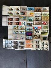 U.S. 6 Cent Plate Blocks Of 4 (Four) With 35 Different  MNH,