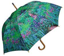 "48"" Monet Secret Garden Auto-Open Umbrella -RainStoppers Rain/Sun UV Fashion"