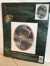 Thomas Kinkade Cross Stitch Kit Victorian Garden II Trellis Vignette *Read Desc*