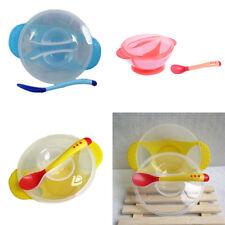 Baby Schüssel mit Saugnapf Schüssel Baby Trainings Bowl Schale mit Löffel Neu