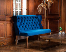 More details for velvet dining bench / button back sofa in two sizes and 3 colours