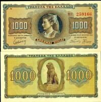 Greece 1942, 1000 Drachmai, Banknote VF