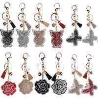 3D Rhinestone Crystal Keyring Charm Pendant Purse Bag Key Chain Keychain Gifts