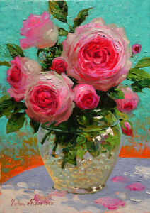 Art Wall Modern Home Decor HD Prints oil painting on canvas Rose flowers NVN116