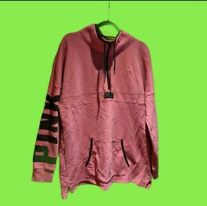 Victoria Secret PINK Vintage Zip Neck Sweatshirt Size L 14/16