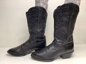 VTG WOMENS ARIAT COWBOY BLACK BOOTS SIZE 8.5 C