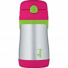 THERMOS FOOGO Vacuum Insulated Stainless Steel 10oz Straw Bottle, Watermelon