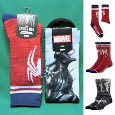 Spider-Man Gamerverse & Venom Symbol Panel Crew Socks (2 Pair) Official Marvel