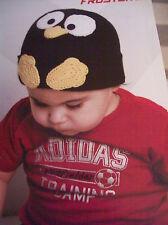 CROCHET  PATTERN ~ PENGUINE  BABY  BEANIE , HAT ~  INSTRUCTIONS