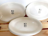 Eat Chow Savor Side Dessert Plates Small Oval SET OF 4 By Rae Dunn Magenta