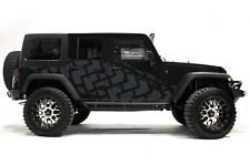Vinyl Graphics Decal TIRE TRACKS Wrap Kit for Jeep Wrangler 4 Door 2007-16 Gray