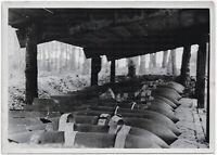 Munitionslager eines Fliegerhorstes. Orig-Pressephoto, von 1942