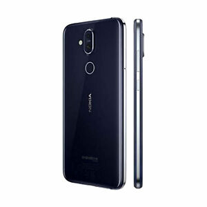 Nokia 8.1 X7 Mobile Phone Dual Sim Free Android One Smart Cell Blue Black 64GB