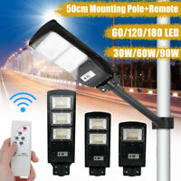 60/90W LED Solar Street Light Radar PIR Road Lamp Motion Sensor Security Outdoor