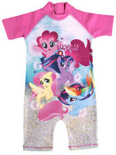 My Little Pony Girls Sun Suit Kids MLP All In One Swimsuit Beach Pool Size
