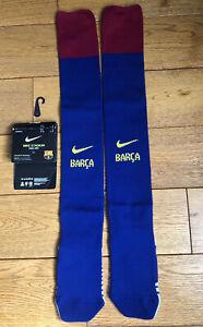Kids Childs Junior Infant Nike Barca Barcelona Football Socks Size 13.5 1 2 Bnwt