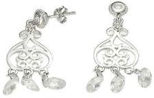 Cubic Zirconia Chandelier Oval Costume Earrings