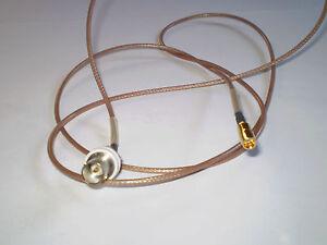 Kabel BNC-Buchse auf MCX Buchse gerade  140cm  lang 75 Ohm BNC-MCX weisse Isol.