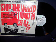 STOP THE WORLD I WANT TO GET OFF 1966 SOUNDTRACK PROMO VINYL LP RARE! N MINT!