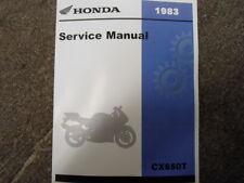 1983 83 HONDA CX650 TURBO CX 650 Service Shop Repair Manual Brand New 1983