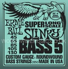 Ernie Ball 2850 Super Long Scale Slinky Roundwound 5 String Bass Guitar Strings
