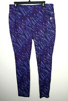 RBX Womens Plus Size Workout Active Leggings Multicolor Purple Blue XL / 1X