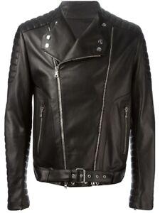 Balmain Lederjacke Gr 52 NP 3690€ Leather wie Neu mit Etikett und Rechnung