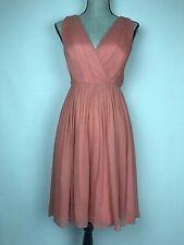 NWT Jcrew Bridesmaid Coral Frances Dress in Silk Chiffon Size 00 style 55693