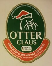 Beer pump clip badge front OTTER brewery OTTER CLAUS xmas cask ale Devon