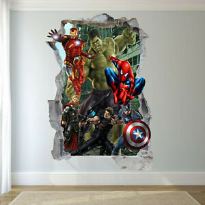 THOR 7 PACK 3D Kids Wall Stickers Decal Removable STICKER Decor 7 Gift PACK