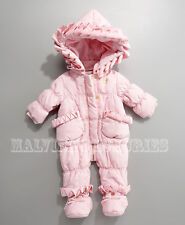 PRE-OWNED BABY JUICY COUTURE HOODED SNOWSUIT LIGHT PINK 0-3 MONTHS