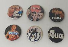 More details for 6 vintage the police sting pin badges