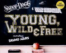 "SNOOP DOGG & WIZ KHALIFA FEAT. BRUNO MARS ""YOUNG,WILD & FREE"" SINGLE CD NEU"