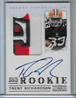2012 Panini National Treasures Trent Richardson Rookie Auto Jersey Patch RC 2/25